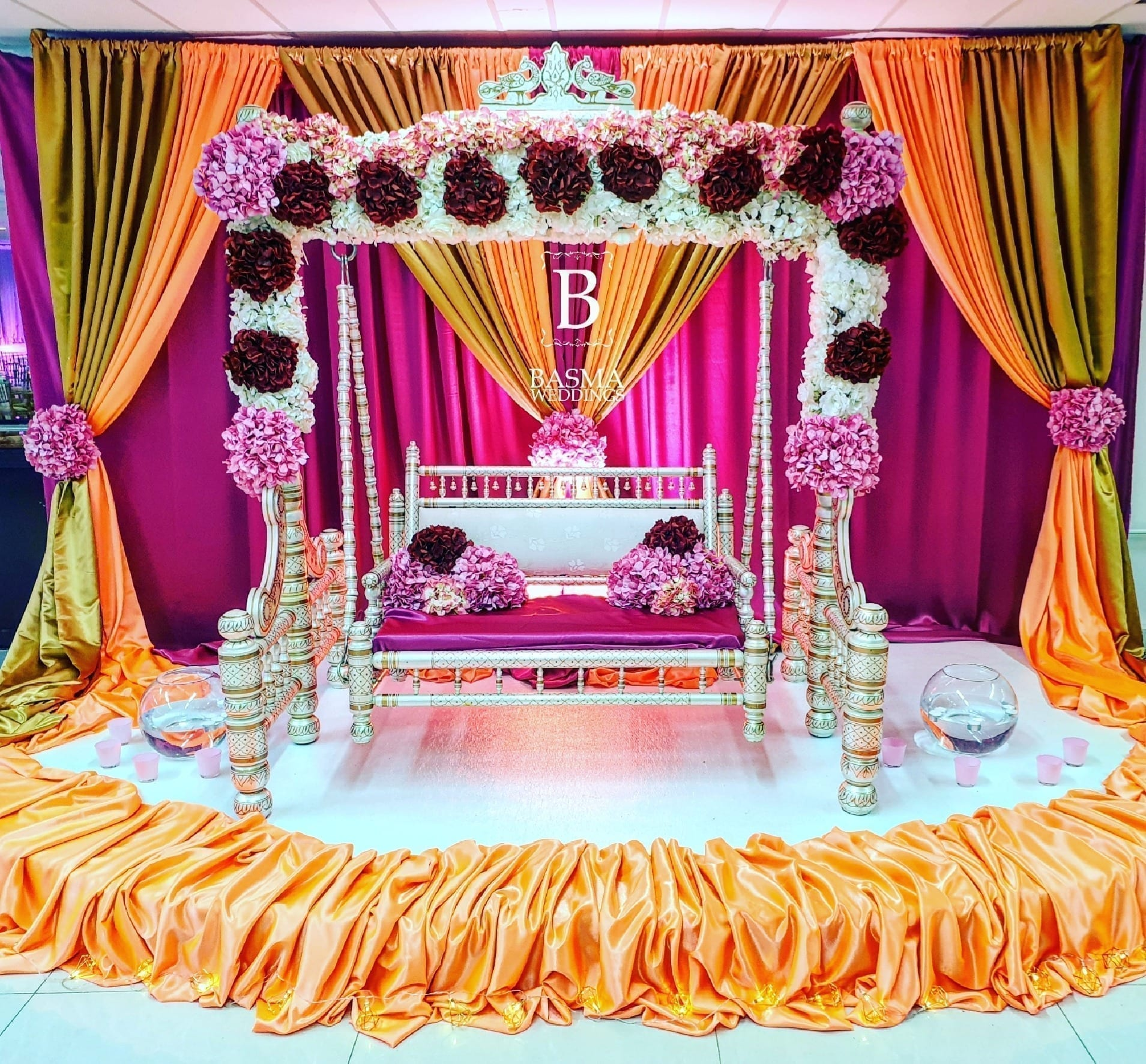 assortiment Bollywood bride stage