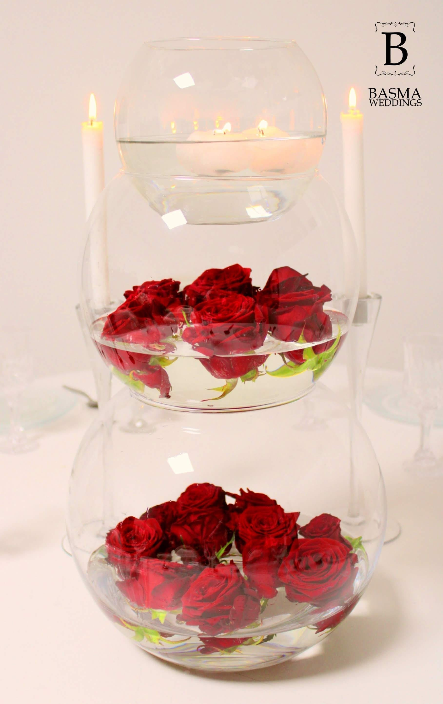 Water glass tower Red