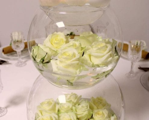 Water glass tower White