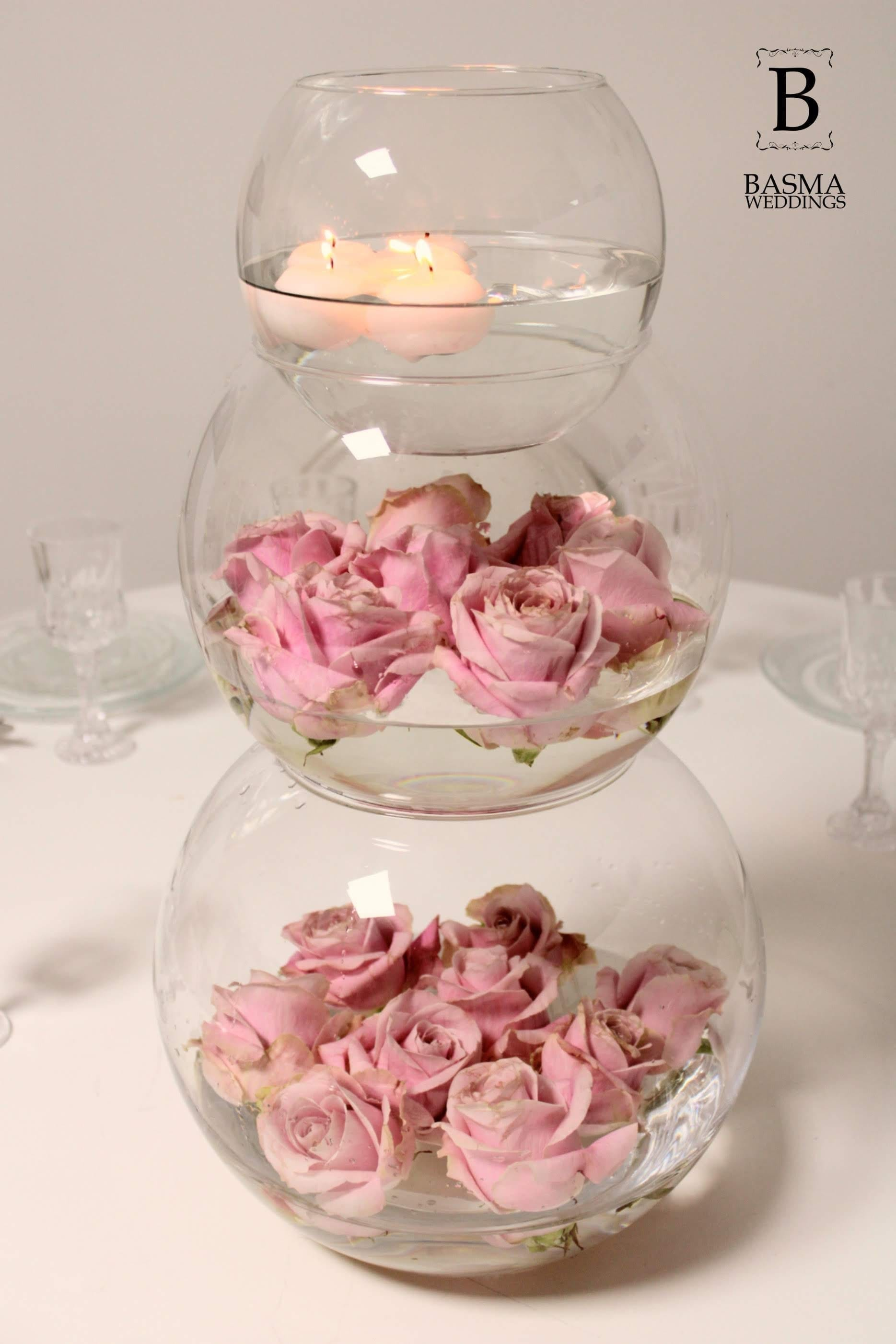 Water glass tower Roze