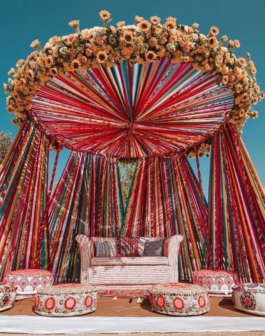 Mandap sunshine bride stage