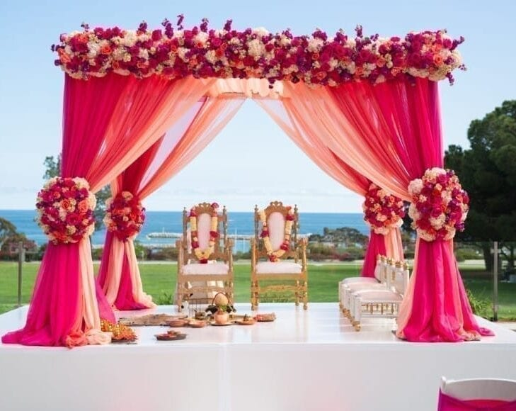 Bollywood Pink bride stage